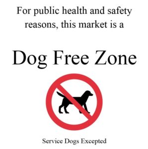 Dog-Free Zone Notice