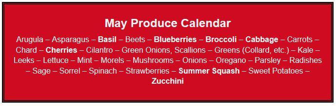 May Produce Calendar